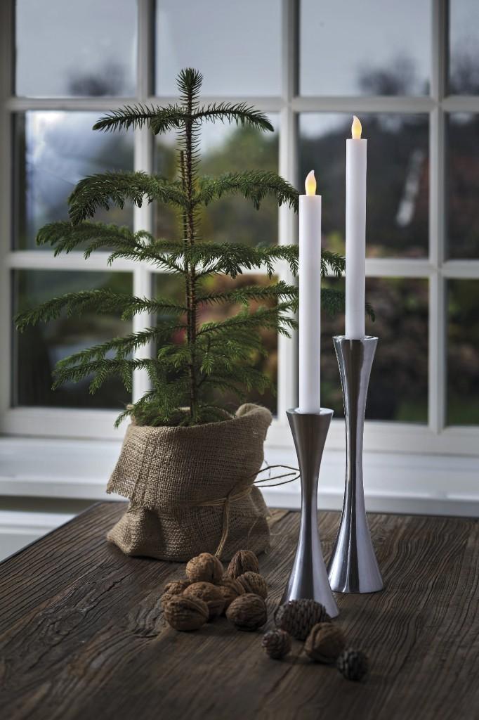 LED svíčky 2 kusy 25 cm