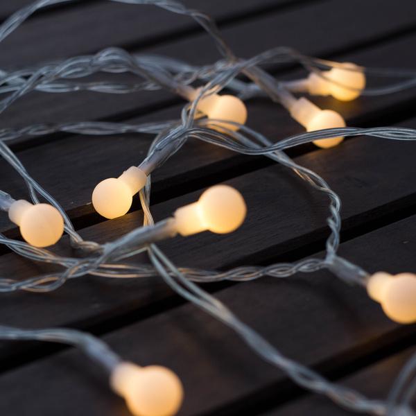 LED světelný řetěz s časovačem 2,1m/10 diod