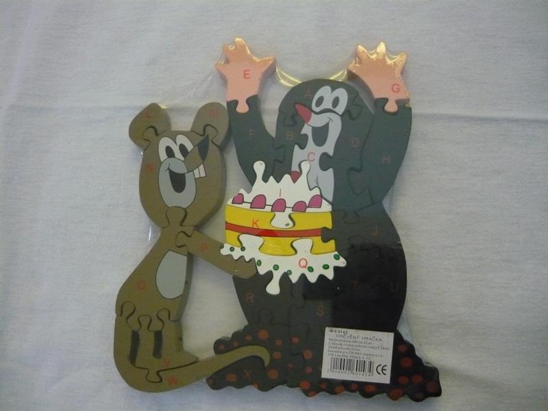 Abecedové puzzle krtek a myška