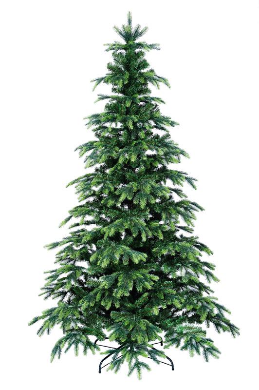 Umělý vánoční stromeček se světle zelenými konci s 3D jehličí 180 cm
