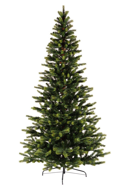 Umělý vánoční stromeček se světle zelenými konci s 3D jehličím 240 cm