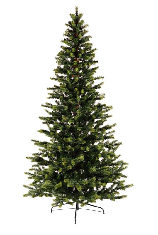 Umělý vánoční stromeček se světle zelenými konci s 3D jehličím 210 cm